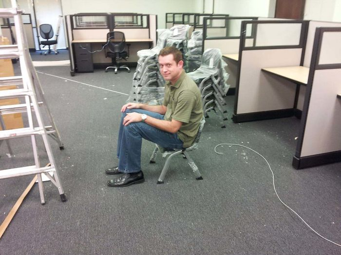 My Boss Ordered Chairs For The Break Room Last Year. He Did Not Get What He Expected