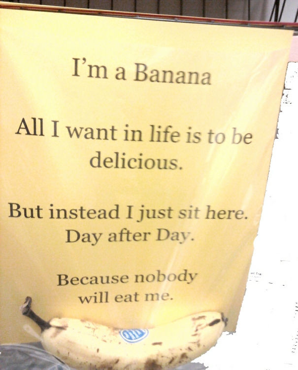 Up Next, On Bananas With Low Self-Esteem