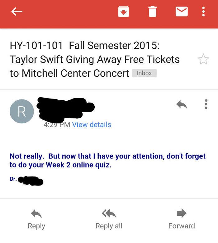 My Professor Can Be A Troll Sometimes