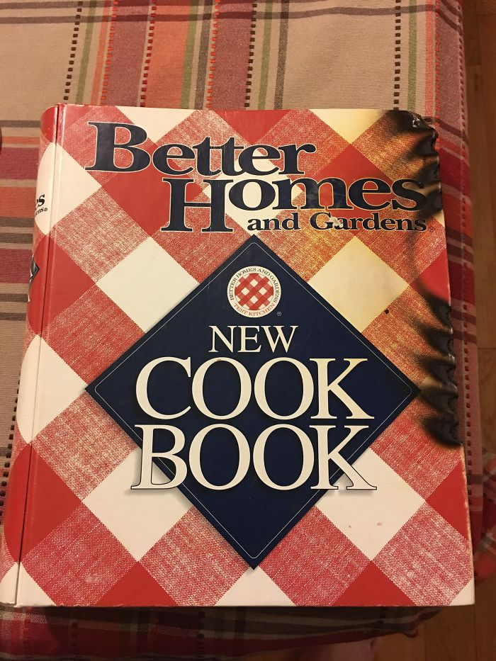 My Wife Tried Cooking Thanksgiving Dinner For Us And Actually Burned The Cook Book