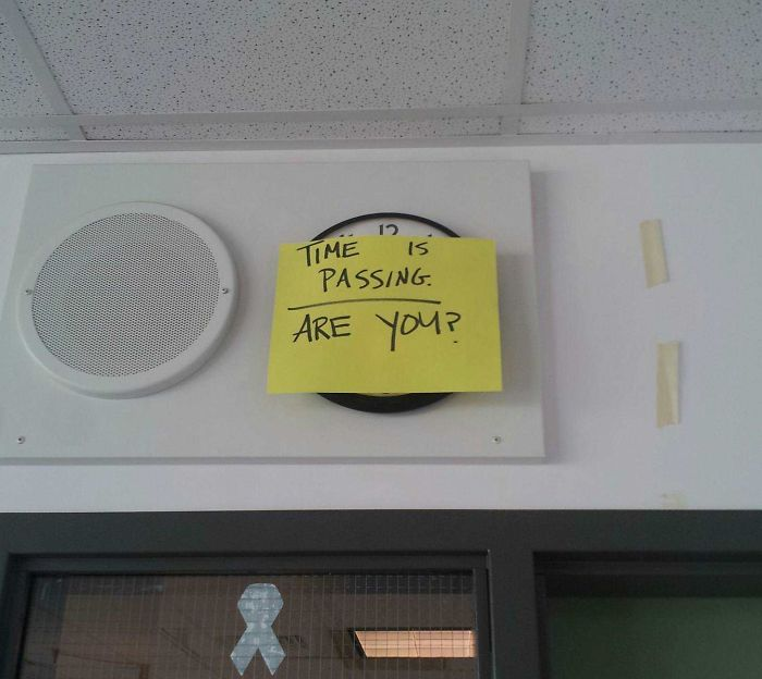 My English Teacher Put This On The Clock During Finals. How Clever