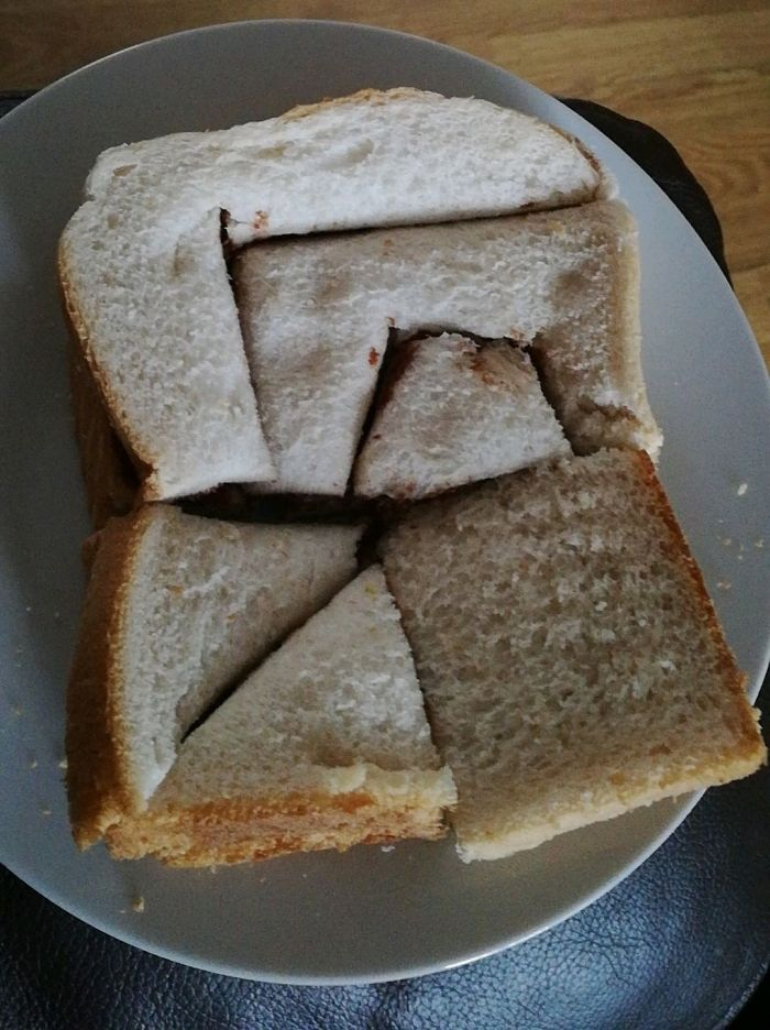 My Girlfriend Likes To Cut My Sandwiches Into Weird Shapes Just To Watch Me Suffer