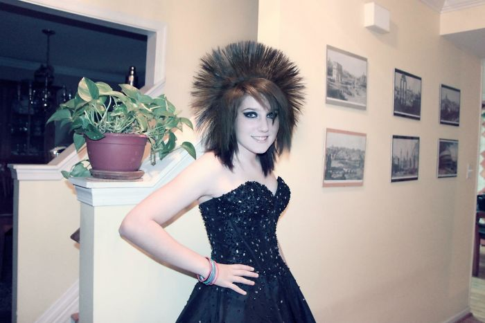 Homecoming 2012. Yes That's My Real Hair. Yes I Spent An Hour On It Every Day
