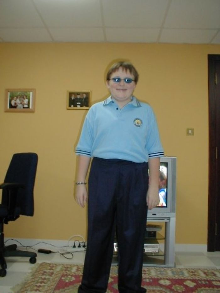 First Day Of High School, I Was Apparently Going For The 70 Year Old Man Look