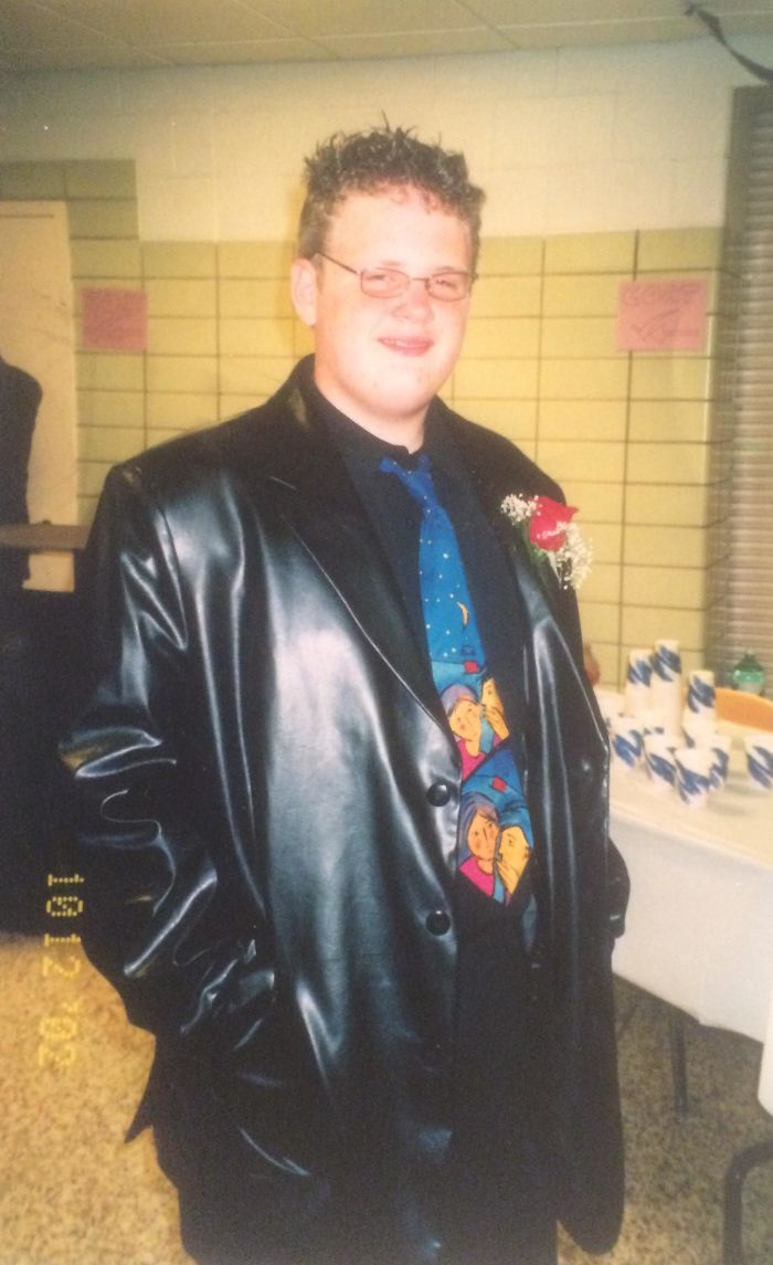 My Christmas Gift To This Group, My Pleather Jacket At Homecoming In 2002