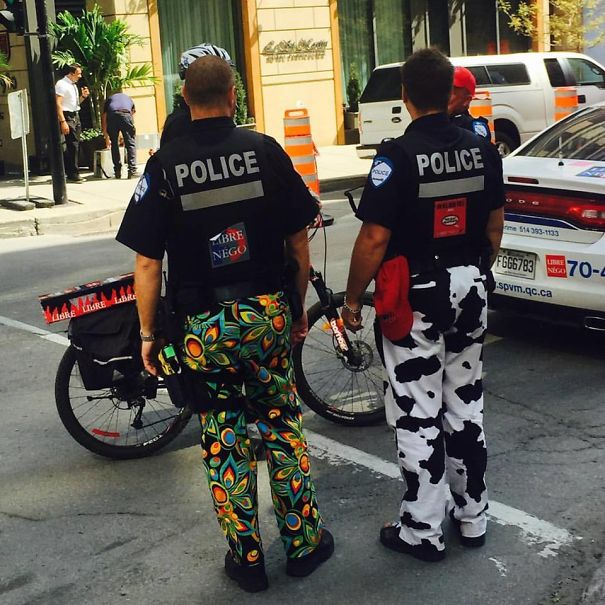 Police In Montreal Are Refusing To Wear Their Work Pants As A Part Of A Labor Dispute