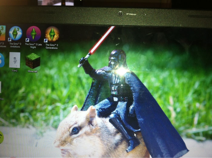 Roommate Brought Home A New Girl, This Is Her Desktop Background... I Think He's Found A Winner