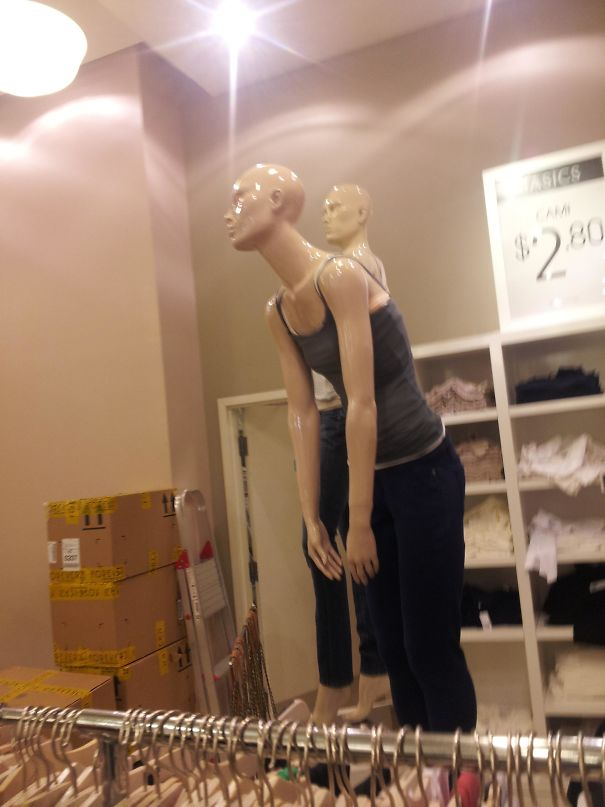 The Mannequin Didn't Want To Be In The Mall Any More Than I Did