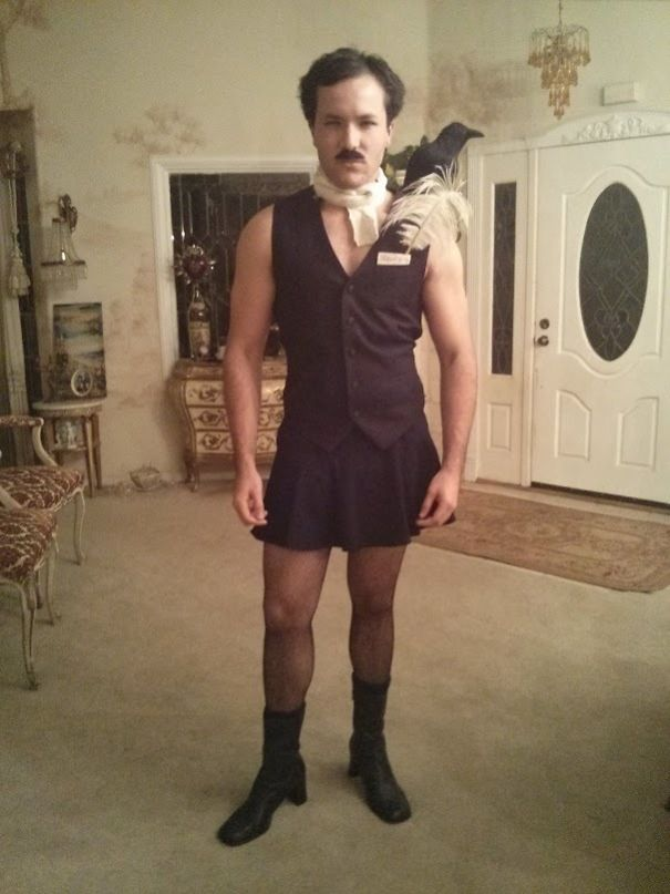 I Decided To Get A Little Creative This Year. I Present Edgar Allan Ho