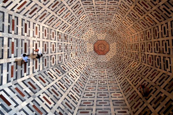 Patterns On The Floor Of The Florence Cathedral