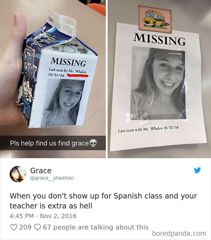 When You Don't Show Up For Spanish Class And Your Teacher Is Extra As Hell