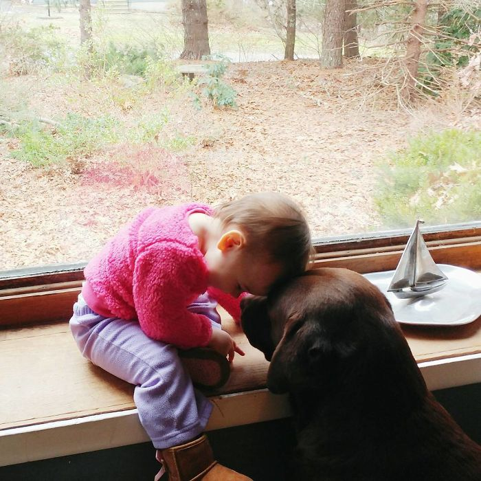 Charlie Spends Her Days Lovingly Fawning Over Barkley- She Reads To Him, Includes Him In All Of Her Play Activities, And Smothers Him With Affection. When She Is Not, He Is The One Coming Over For Kisses And To Be Right Next To Her At All Times