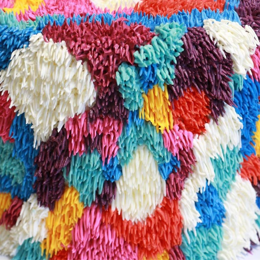 Colorful Cakes That Look Like Fuzzy Shag Rugs You'd Regret Stepping On