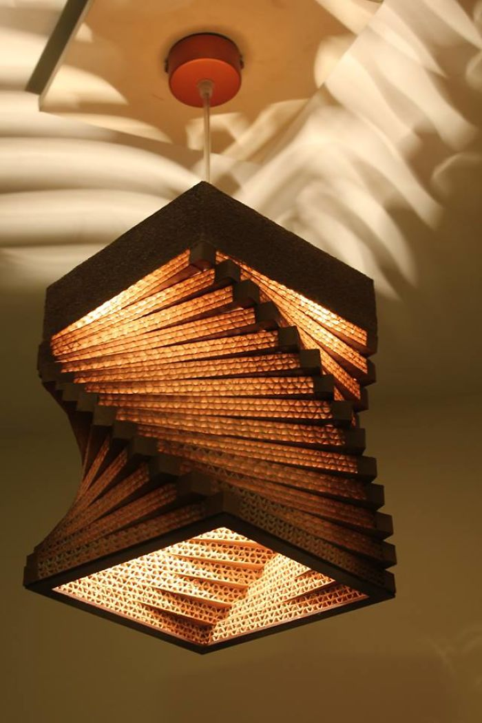 Designer lighting Ceiling Pinterest Cardboard Designer Lamps Bored Panda