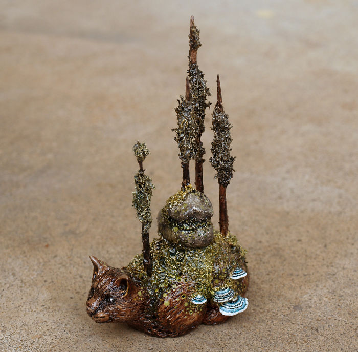 I Made Some Little Creature Figurines With Trees Growing On Them
