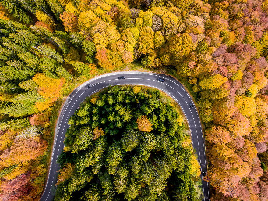 I Photograph The Roads Of Transylvania From Above. Yes, That Transylvania!