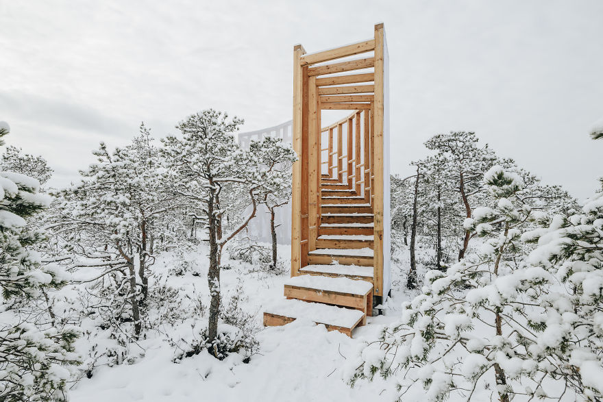 Estonian Academy Of Arts Interior Architecture Students Have Been Designing  Hiking/forest Infrastructure U2013 Shelters And Observation Towers For The  Nature ...
