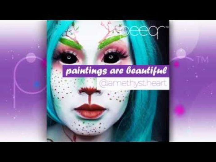 Peeqr Streamer – Amethyst Heart Amazing Face Paint