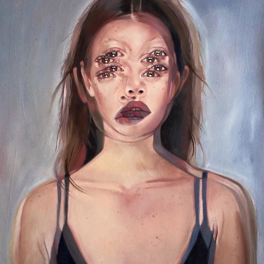 I Create Figurative Op Paintings That Will Make You Feel Dizzy