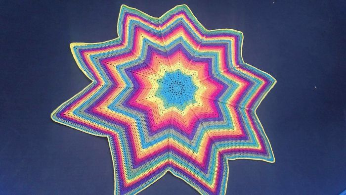I Designed This Crochet Pattern For A Star Blanket, And Ended Up Making And Giving Them To Family Members And Friends That Needed A Hug.