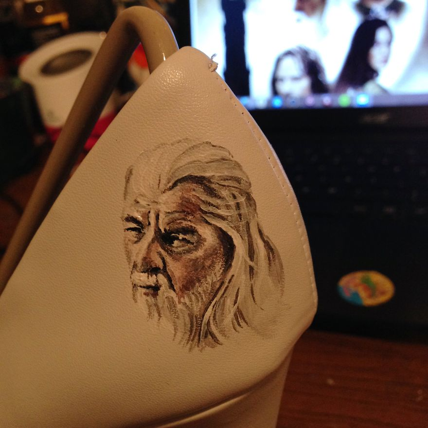 I Painted LOTR Characters On A Pair Of Boring White Heels