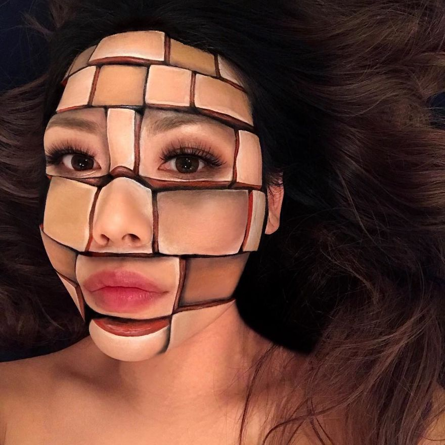 Woman Gives Up Teaching To Create Optical Illusions With