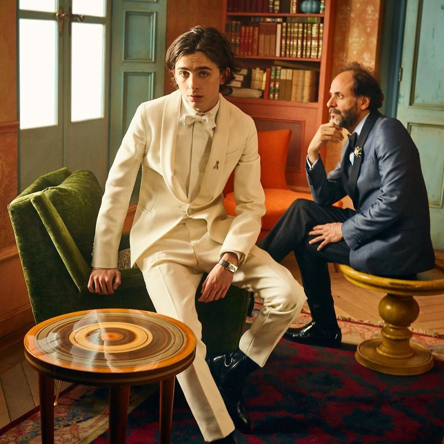 Timothee Chalamet And Luca Guadagnino