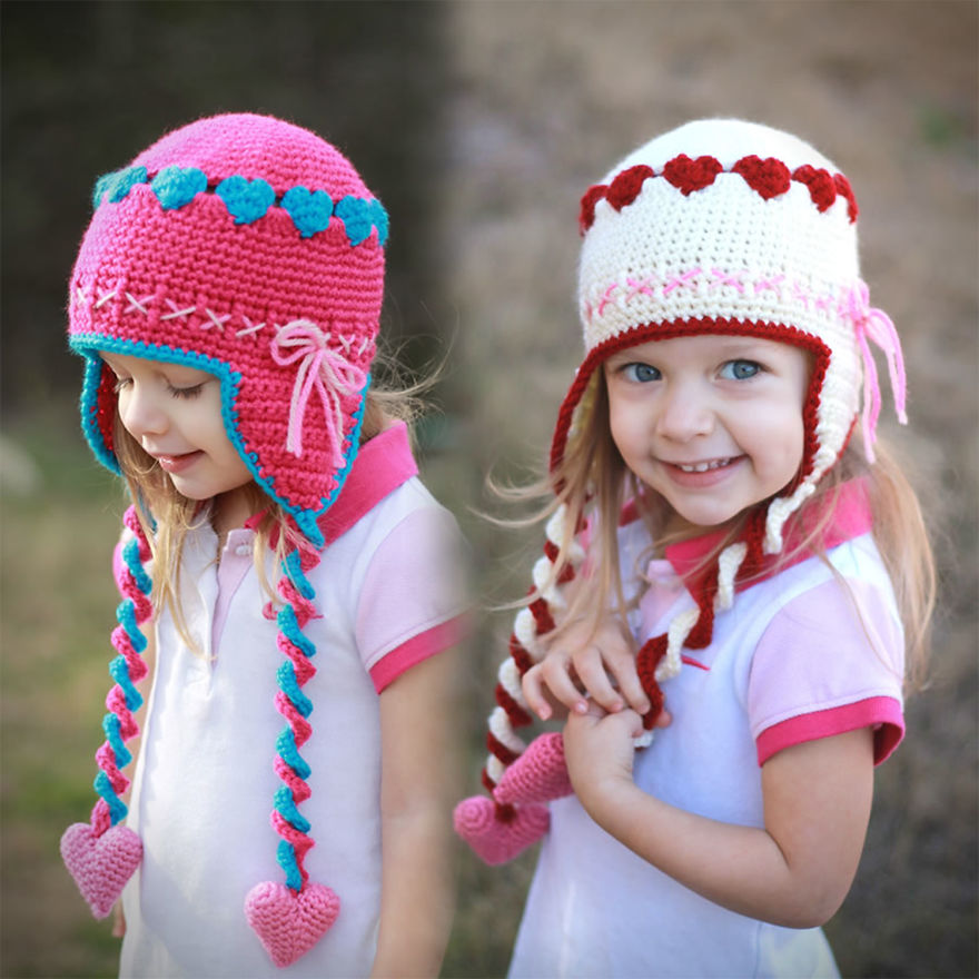 Crochet Sweetheart Hats