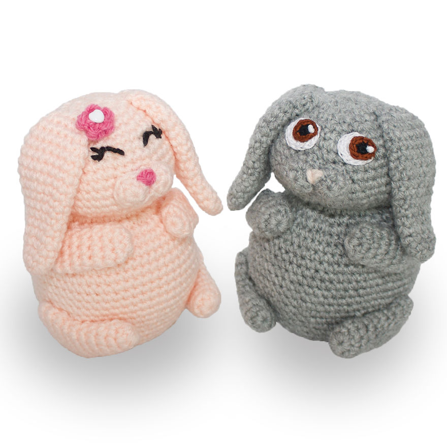Crochet Bunny Pudgy Pals