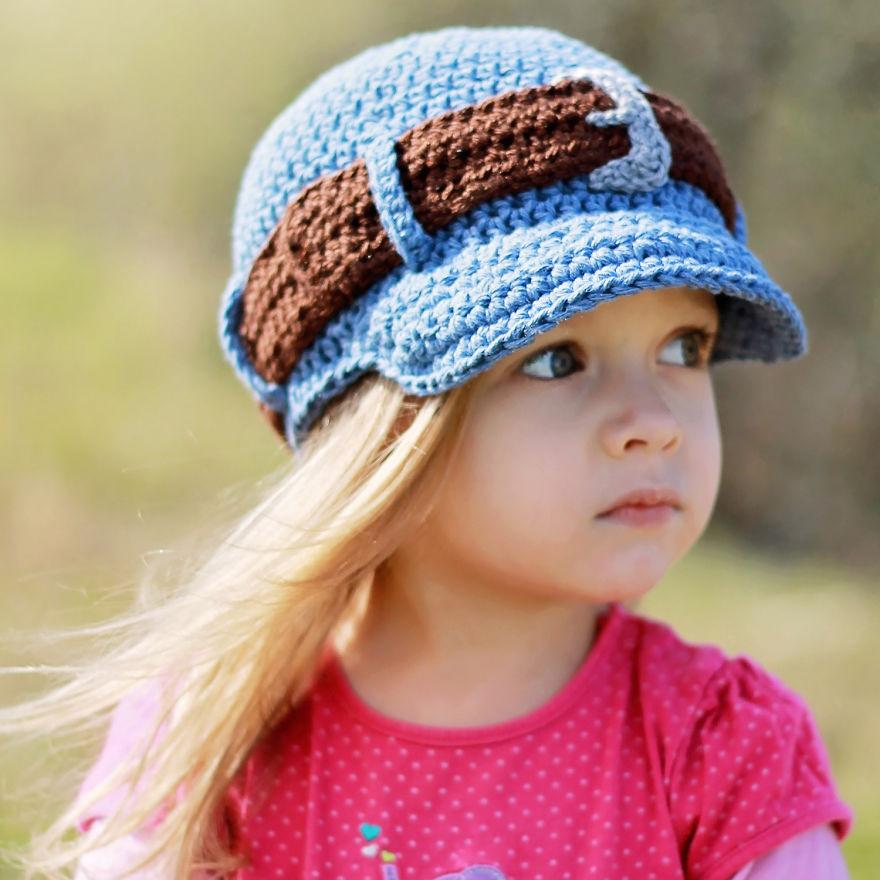 Crochet Jeans Style Hat