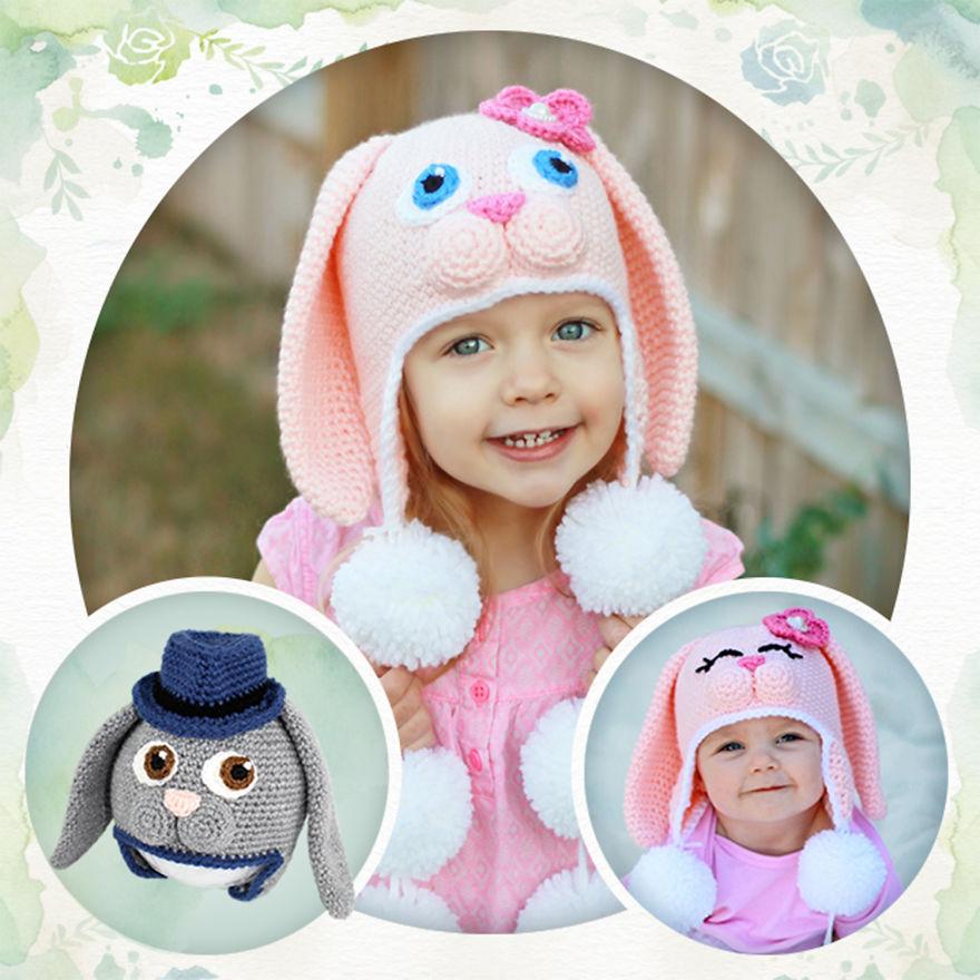 Crochet Sweet Bunny Hats