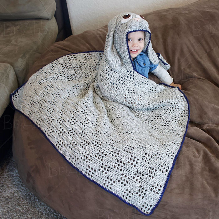 Hooded Bunny Blanket