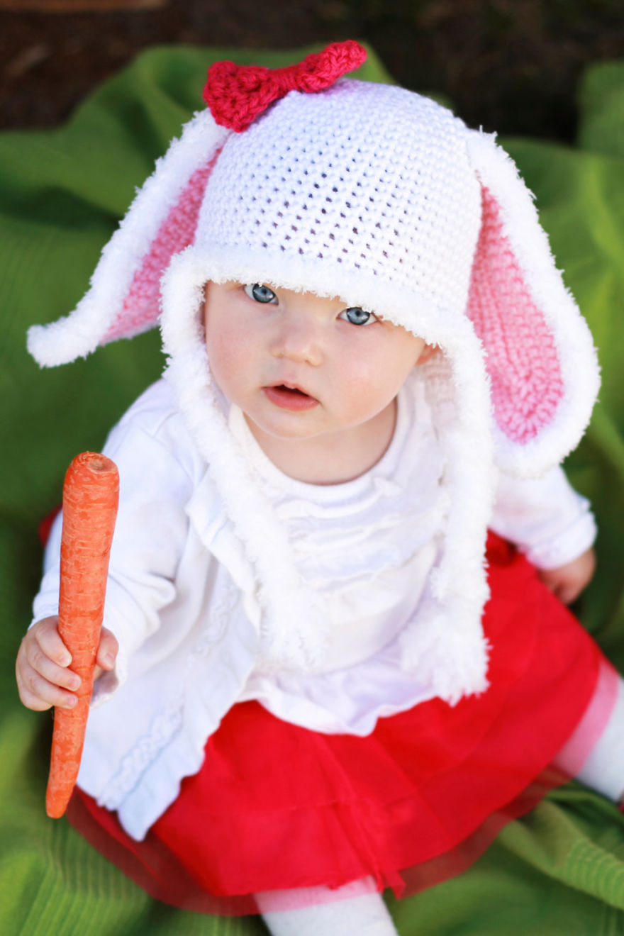 Crochet Bunny Rabbit Hat