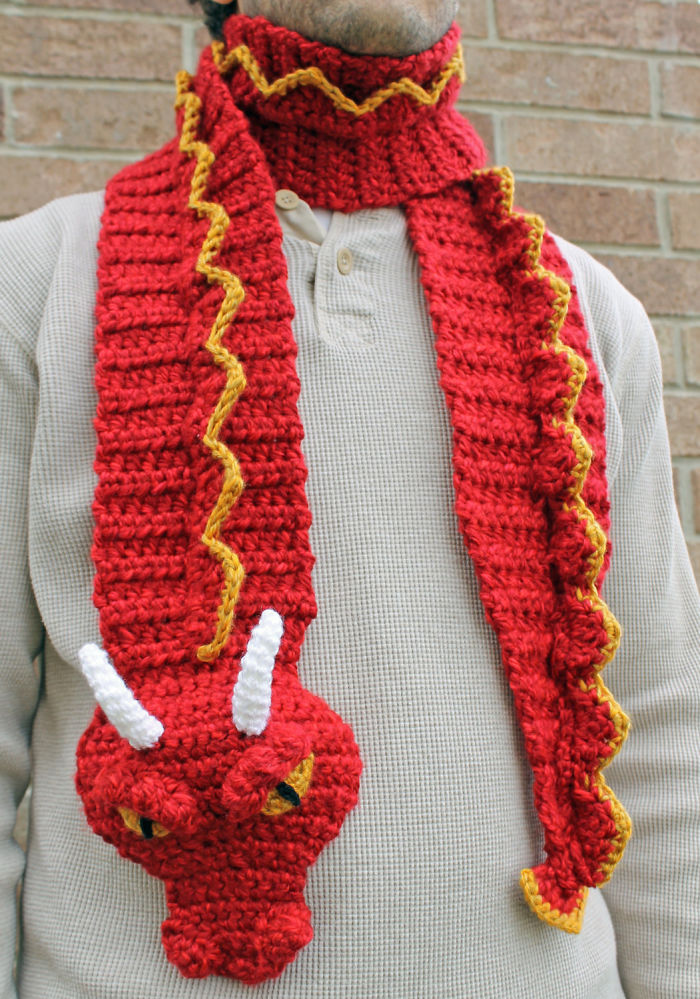 Crochet Dragon Scarf