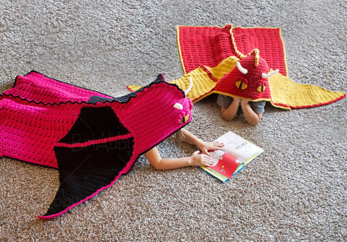 Hooded Dragon Blanket