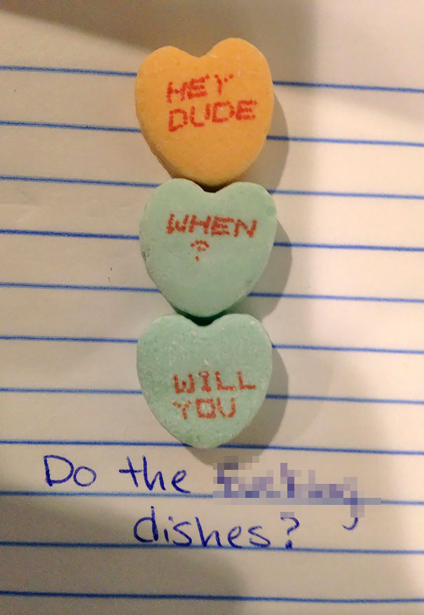 Passive-Aggressive Roommate Preparing For Valentines Day