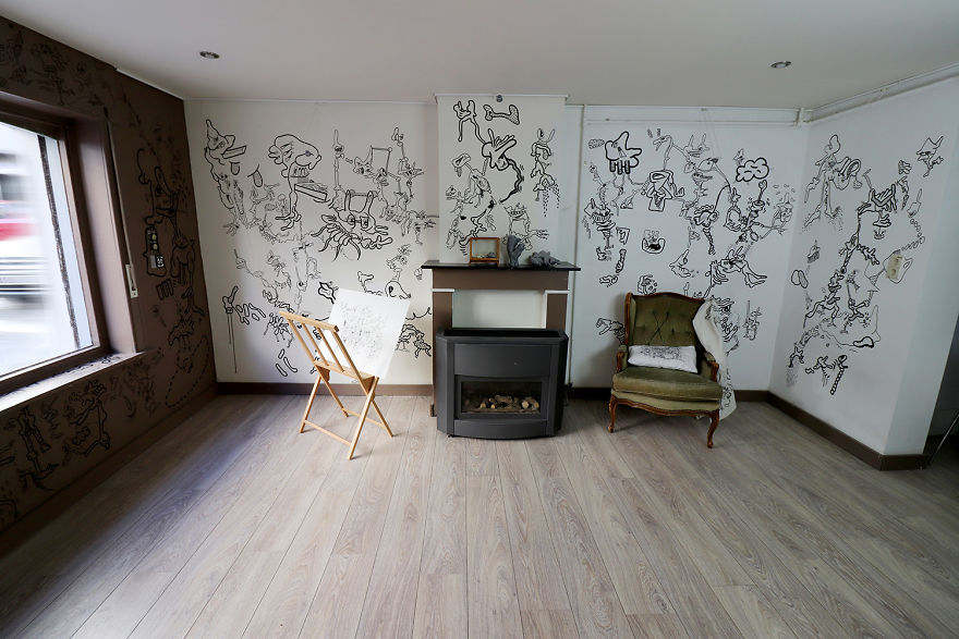 I Turned My Entire House Into An Amazing Doodle Drawing