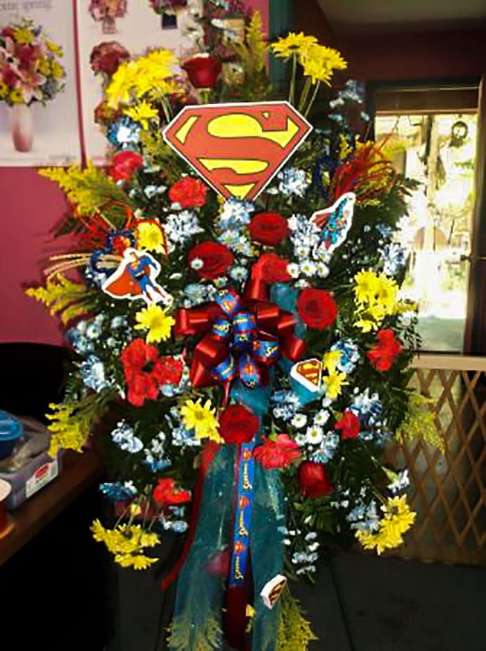 Parents Ordered A Super Man Arrangement For Their Son's Funeral. This Is What I Made For Them