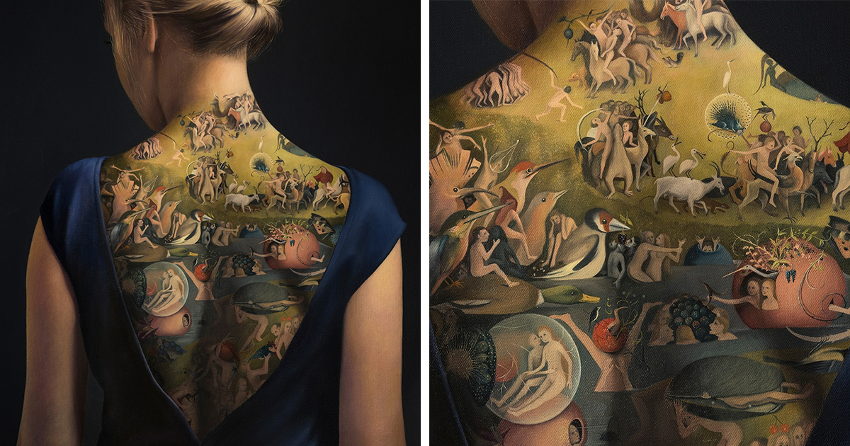 What Seems Like An Awesome Tattoo On This Woman's Back Is Not What It Seems
