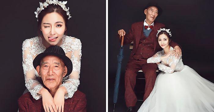 Esta mujer cumplió el deseo de su abuelo enfermo antes de que fuera demasiado tarde, y las fotos te harán llorar