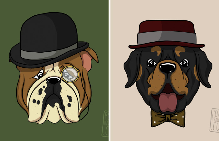 12 Gentlemen Dogs Illustrated By Dog Addicted Artist
