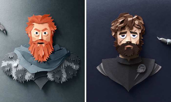 Artist Hand-Cuts Game Of Thrones Characters Out Of Paper And The Details Are Incredible