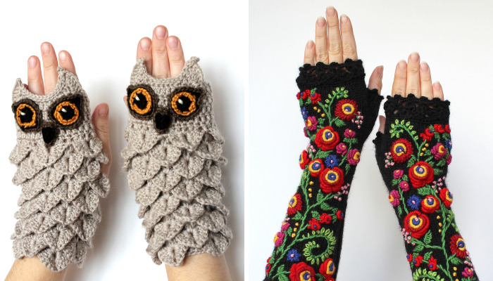 I Make Embroidered Mittens And Gloves That Will Keep Your Hands Warm
