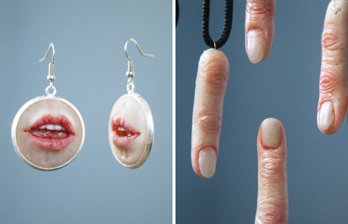 Jewelry With Realistic Body Parts