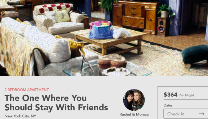 Fictional Airbnb Listings Price Out The Cost To Rent Tv Character Homes