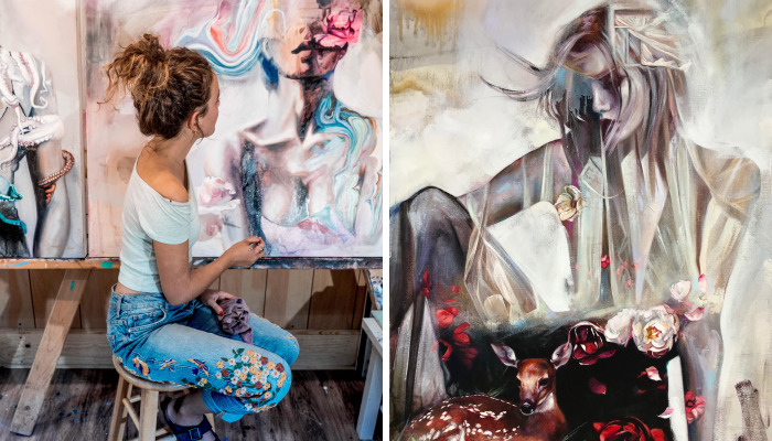 18-Year-Old Painter Stuns The Art World With Her Vibrant Paintings, Sells Them For $10k