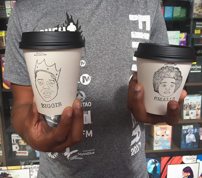 This Coffee Shop Has 2 Cup Sizes, Biggie And Smalls