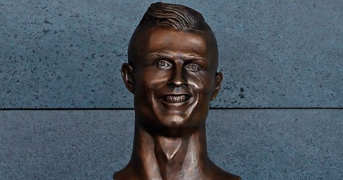 Internet Laughed At This Guy's First Attempt At Cristiano Ronaldo's Bust, So He Tries The Second Time