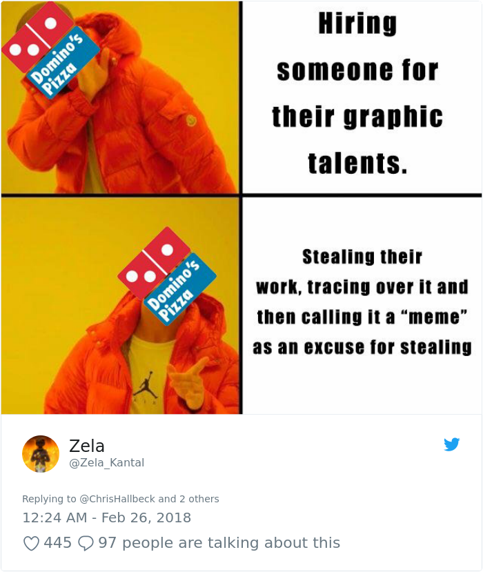 Artist Accuses Domino S Pizza Of Plagiarism And The Evidence Is