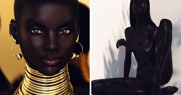 """Este fotógrafo fue acusado de racismo después de que """"Shudu"""", su modelo negra perfecta, se volviera famosa en Instagram"""